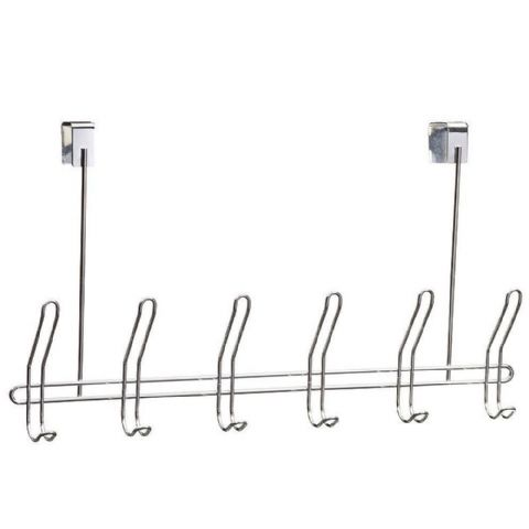 Chrome Wire 6 Double Overdoor Hooks